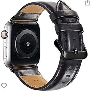 New Black Leather Band for Apple iWatch 42/44mm
